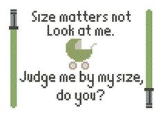 Star Wars Yoda Baby Quote Cross-Stitch Pattern Download on Etsy, $3.00