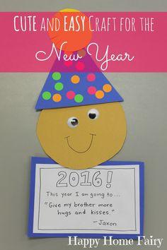 Easy New Year's Craft für Kinder im Vorschulalter – Happy Home Fairy - Neujahr New Year's Eve Crafts, New Year's Crafts, Holiday Crafts, Easy Crafts, Crafts For Kids, Kindergarten Crafts, Daycare Crafts, Preschool Art, Toddler Crafts