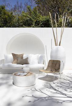 Outdoor Sofa, Outdoor Spaces, Outdoor Living, Outdoor Fabric, Outdoor Furniture, Outdoor Decor, Exterior Design, Home Interior Design, Interior And Exterior