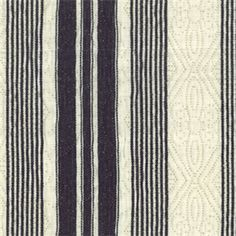 WH-0313 Sundance Black Cotton Stripe Matalesse Fabric by Roth and Tompkins