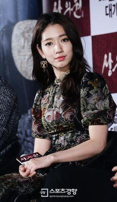 awesome Park Shin Hye Pretty as the flower queen at Royal Tailor Press conference