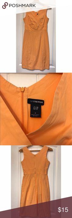 Gap Stretch Orange Dress Size 2 Good used condition. Size 2. GAP Dresses