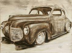 1941 plymouth coupe | Classic Car Painting - 1941 Plymouth Coupe
