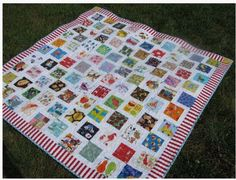 """Have you ever played the """"I Spy"""" game? Did you play it as a child? Well, I was in the dark until I came across a quilt named I Spy. The more I looked at it, I realized it was a great teaching opportunity and at the same time a fun game! """"I spy something… Cute Quilts, Scrappy Quilts, Baby Quilts, Kid Quilts, Patchwork Quilting, Small Quilts, Quilting Tutorials, Quilting Projects, Sewing Projects"""