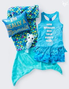 #TeamMermaid for the style win! Let your alter ego out to play in these pretty pj's & accessories.