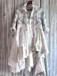 Romantic fall flannel jacket Pretty Country by TrueRebelClothing Duster Dress, Coat Dress, Moda Country, Mode Hippie, Boho Clothing, Recycled Clothing, Flannel Jacket, Altered Couture, Diy Fashion