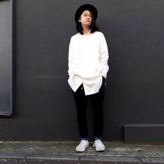pimpstick | RUMHOLE beruf - Online Store【pimpstick】コットンロングシャツ