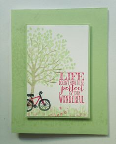 Iguanastamp! Stampin' Up Perfect Pennant paired with Sheltering Tree