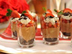 Get Strawberry Chocolate Mini Trifles Recipe from Food Network