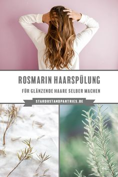 Make your own rosemary conditioner for shiny hair-Rosmarin Spülung für glänzende Haare selber machen A rosemary conditioner is very easy to make yourself and ensures wonderfully shiny hair conditioner - Beauty Care, Diy Beauty, Fashion Beauty, Shampooing Diy, Diy Nature, Japanese Hairstyle, Vegan Beauty, Natural Glow, Shiny Hair