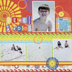 Beach Buddies Wave Border Maker #Scrapbook Layout Project Idea from Creative Memories  http://www.creativememories.com