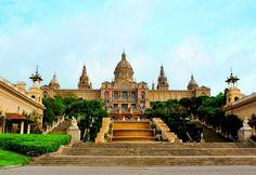 Barcelona Reisen Spanien Tourist Europa Gebäude MNAC
