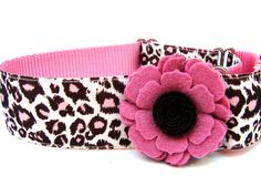 Leopard Print Dog Collar by Dogologie Designs on Etsy, $22.00