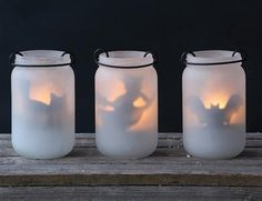 MIDNIGHT TEALIGHT LUMINARIES (SET OF 3) - Halloween Luminaries, Cat & Witch…