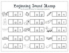 Beginning Sound Stamp.pdf. Do just blanks with the pictures.