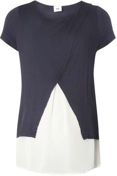 **Mamalicious Maternity Navy 2-In-1 Top