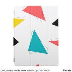 Cool, unique, trendy, urban colorful triangles iPad pro cover