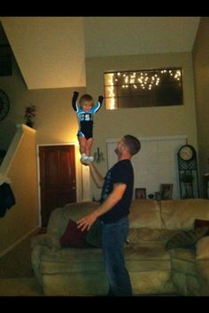 Husband and little cheerleading daughter included :)   -GAHHH!  This is adorable!!!!