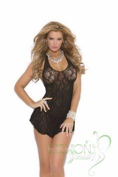 c8ad5d5a21 Black Lace Mini Sexy Babydoll Lingerie Dress G-String Sleepwear Nightwear  Set Check out this hot intimate Black Lace Mini Sexy Babydoll Lingerie Dress  which ...