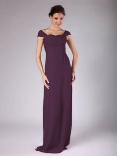 Pin to Win a Wedding Gown or 5 Bridesmaid Dresses! Simply pin your favorite dresses on www.forherandforhim.com to join the contest! | Tie Back Column Bridesmaid Dress $149.99