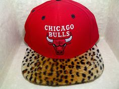 6cac72848dd Chicago Bulls Natural Leopard Cheetah Print Custom Snapbacks Jordans Hats  Caps
