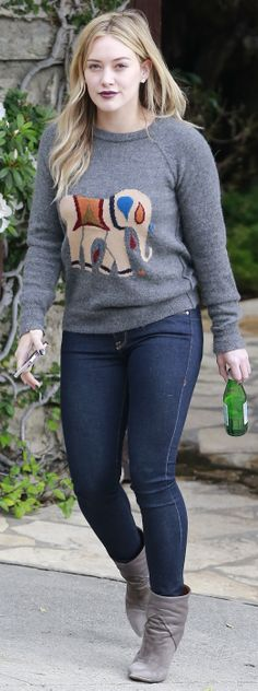 Digging Hilary Duff in this elephant sweater