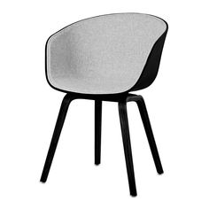 Buy HAY About A Chair AAC22 with Front Upholstery - Black Shell   Amara Hay Chair, Accent Chairs, Upholstery, Shells, Dining Chairs, Stuff To Buy, Furniture, Black, Home Decor