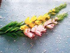 DIY - how to make Gladiolus paper Flowers - làm hoa lay ơn từ giấy nhún