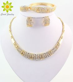 Find More Jewelry Sets Information about Luxury Crystal Chunky Necklace and Bangle Sets Designer Vintage African Costume Women Wedding Accessories Gold Plated jewellery,High Quality jewellery clamp,China accessories mobile phones products Suppliers, Cheap jewellery findings from Carol Jewelry on Aliexpress.com