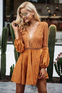 Hannah Suede Lace Dress Vestidos Cortos c29ec911a295