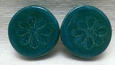 PLUGS GAUGES TUNNELS  1 1/2 38 mm Turquoise by CagwinManchen
