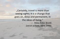 ...that's really what travel is all about! A deep experience with all the senses not seeing sights all day long!