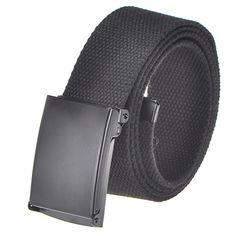 "1.25/"" FLIP-TOP nickel matte metal belt buckle with end tip for Canvas web belt"