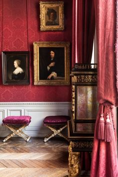 Musee Jacquemart-Andre in Paris. Red Rooms, Red Walls, Beautiful Interiors, French Interiors, The Hamptons, Architecture Design, French Architecture, Sweet Home, Design Inspiration