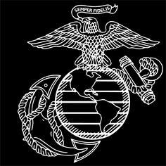 United States Marine Corps USMC Flag Sticker 3x4