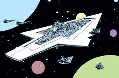 skrimshanker: The Executor Darth Vaders Super Star Destroyer by Al Williamson.