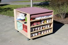 Portable Workbench With Storage