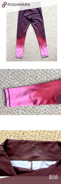 VIE ACTIVE ROCKELL 7/8 LEGGING, Painted Ombré S VIE ACTIVE ROCKELL 7/8 LEGGING, Painted Ombré size S. Bought at Bandier in NYC, no tags but only wore once! Super comfy and cute Vie Active Wear Pants Leggings