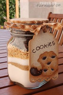 Cookie mix gift - cute tag