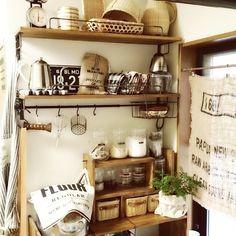Lateさんの、籐ポット,ラッセルホブス,調味料,麻袋,タカヒロ ドリップポット,見せる収納,竹かご,DIY,キッチン&テーブルウェア,植物,Kitchen,のお部屋写真