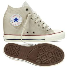 6c01a1d7cd80 Converse Chuck Taylor All Star Lux Washed Canvas 547194C Beige Wedge Women  Shoes