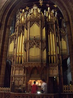 Wonderful pipe chamber at Chester Cathedral Organ, Chester, Cheshire, England (by cathedralchoir, via Flickr)
