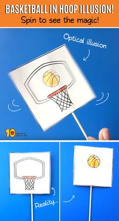 Basketball in Hoop Illusion