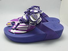 New Womens Fitflop Frou Flower Sandal Blue Clearance is high quality and low price.$ 58.75