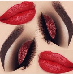 Image result for red makeup