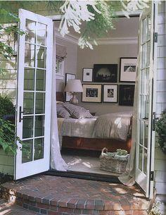 Someday my master bedroom will have ground floor french doors in bedroom