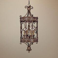 Squire Collection Crusted Umber Finish Foyer Chandelier
