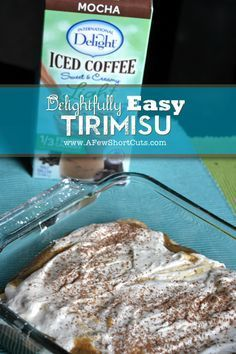 Delightfully Easy Tirimisu! Plus it can be made #glutenfree with @International Delight #LightIcedCoffee