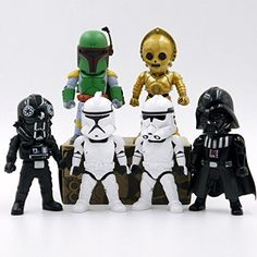 6Pcs Star Wars Action Figures-Derth Vader, White Clone Solider, C-3PO, Commander Gree, Tie Fighter Pilot Star Wars figure collections YoYoLuckman http://smile.amazon.com/dp/B016DCUR8I/ref=cm_sw_r_pi_dp_rUHXwb09VR5C5