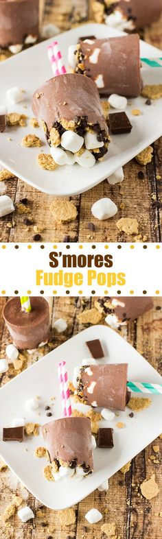 S'mores Fudge Pops- an easy to make treat that everyone will love!